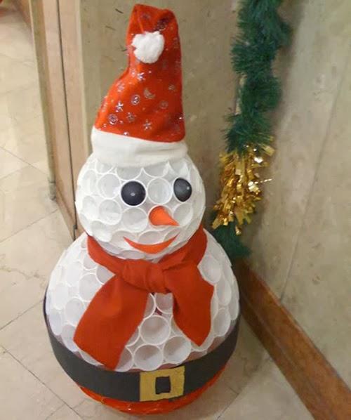 Aprenda fazer este lindo boneco de neve