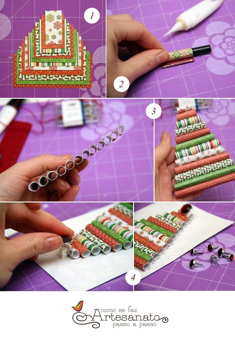 Aprenda fazer este lindo cartão de Natal personalizado