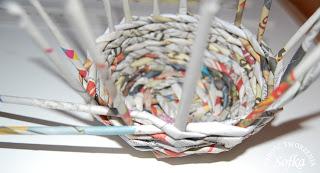 Como faz cesto de vime com jornal