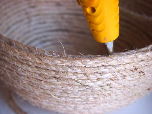 Aprenda fazer essa linda fruteira decorada com corda