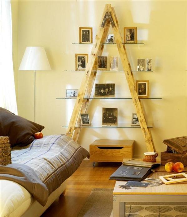 Ideias criativas para reutilizar uma escada como decoração