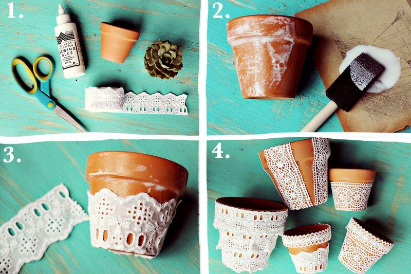 Faça lindos vasos customizados para decoração da sua casa