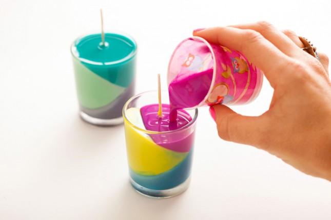 Como fazer velas color block - Blog Como faz artesanato