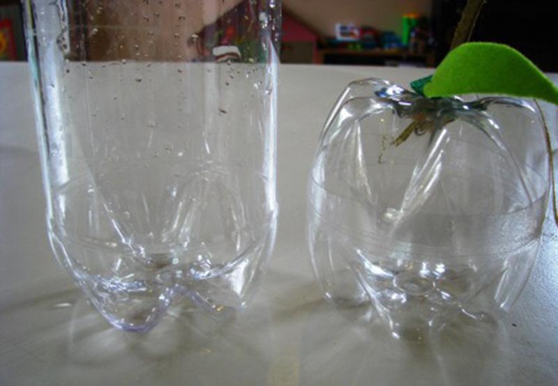Maçã Porta treco de garrafa pet - Blog Como faz artesanato
