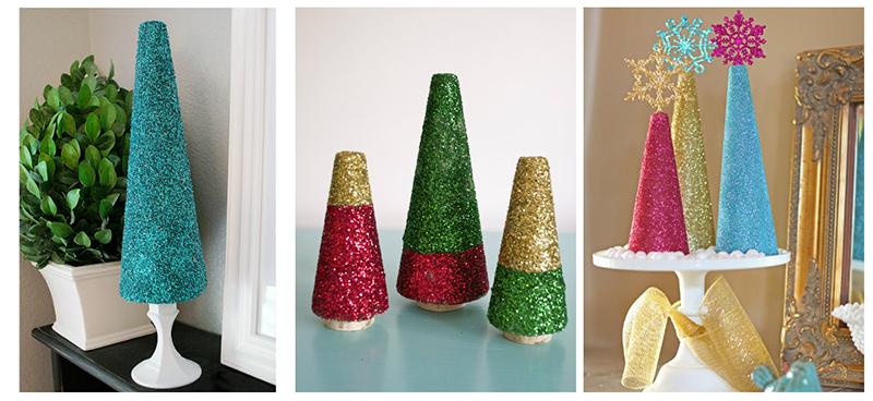 Como fazer árvore de Natal com glitter - Blog Como faz Artesanato