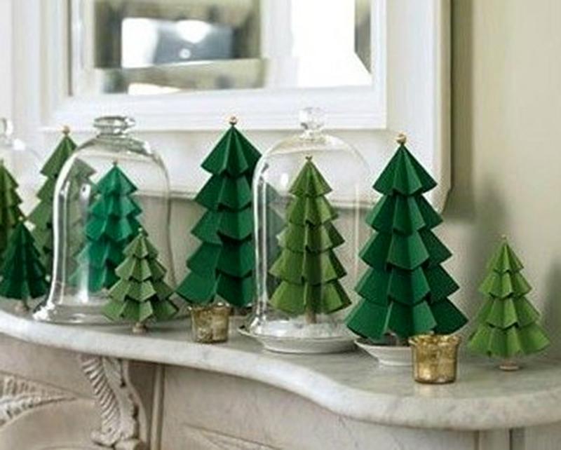 Como fazer Árvore de Natal de papel - Blog Como faz Artesanato