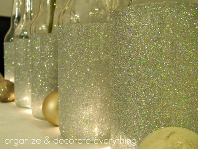 Como fazer garrafa com glitter - Blog Como faz Artesanato