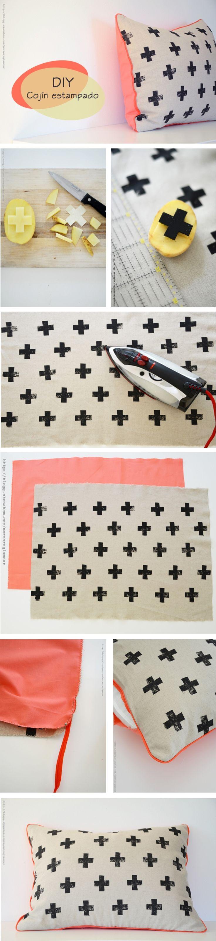 Como fazer almofada estampada - Blog Como faz artesanato