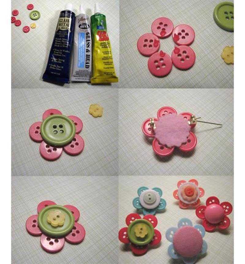 Como fazer broche de botões - Blog Como faz Artesanato