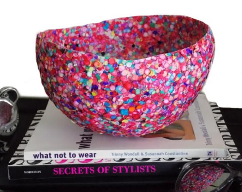 Como fazer fruteira de confetes - Blog Como Faz Artesanato