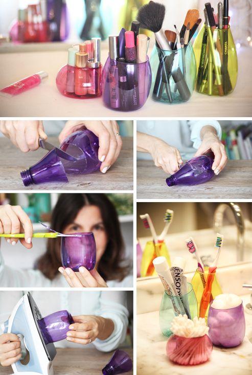 Como fazer organizadores de garrafa PET - Blog Como faz Artesanato