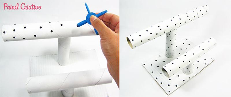 Como fazer porta joias de papelão - Blog Como faz Artesanato