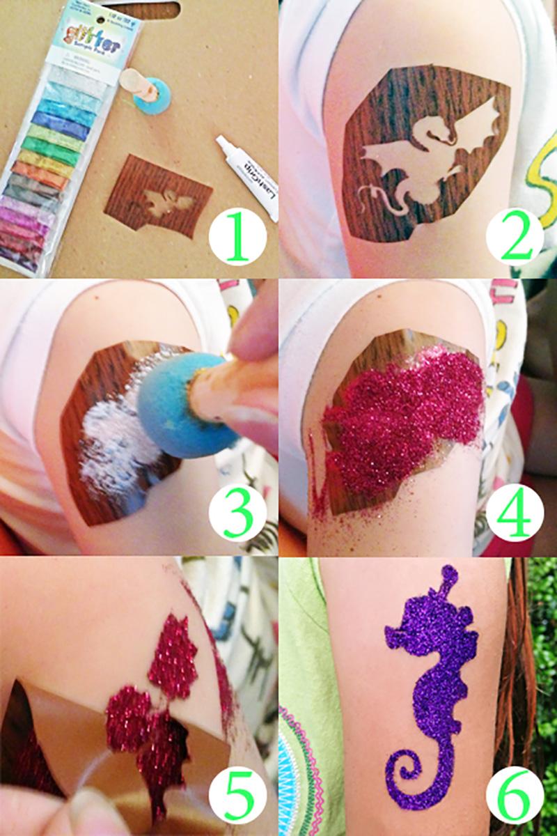 tatuagem-de-glitter